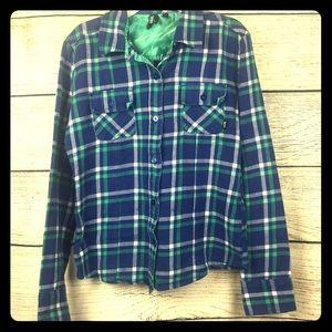 Women's VANS Long Sleeve Flannel Button Up Shirt